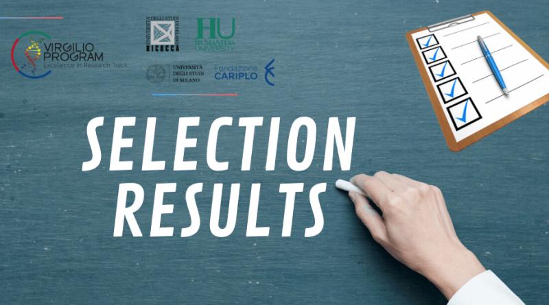 Virgilio program Selection Results